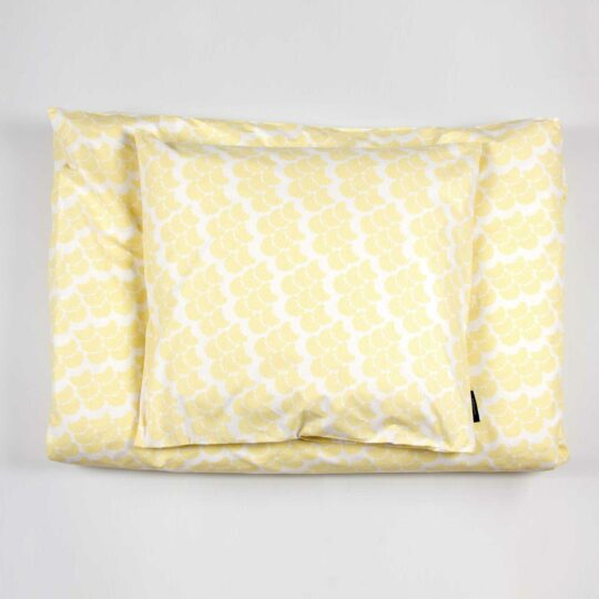 Bed linen, Obi yellow, design Anne Rosenberg, RosenbergCph