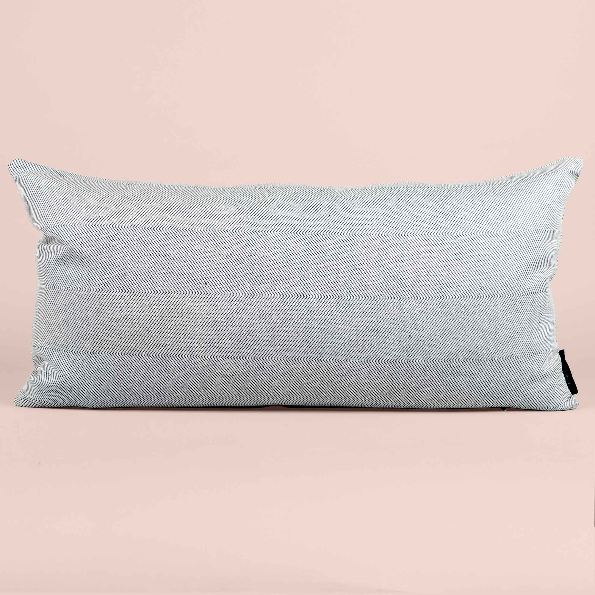Rectangular cushion linen/cotton light blue design by Anne Rosenberg, RosenbergCph