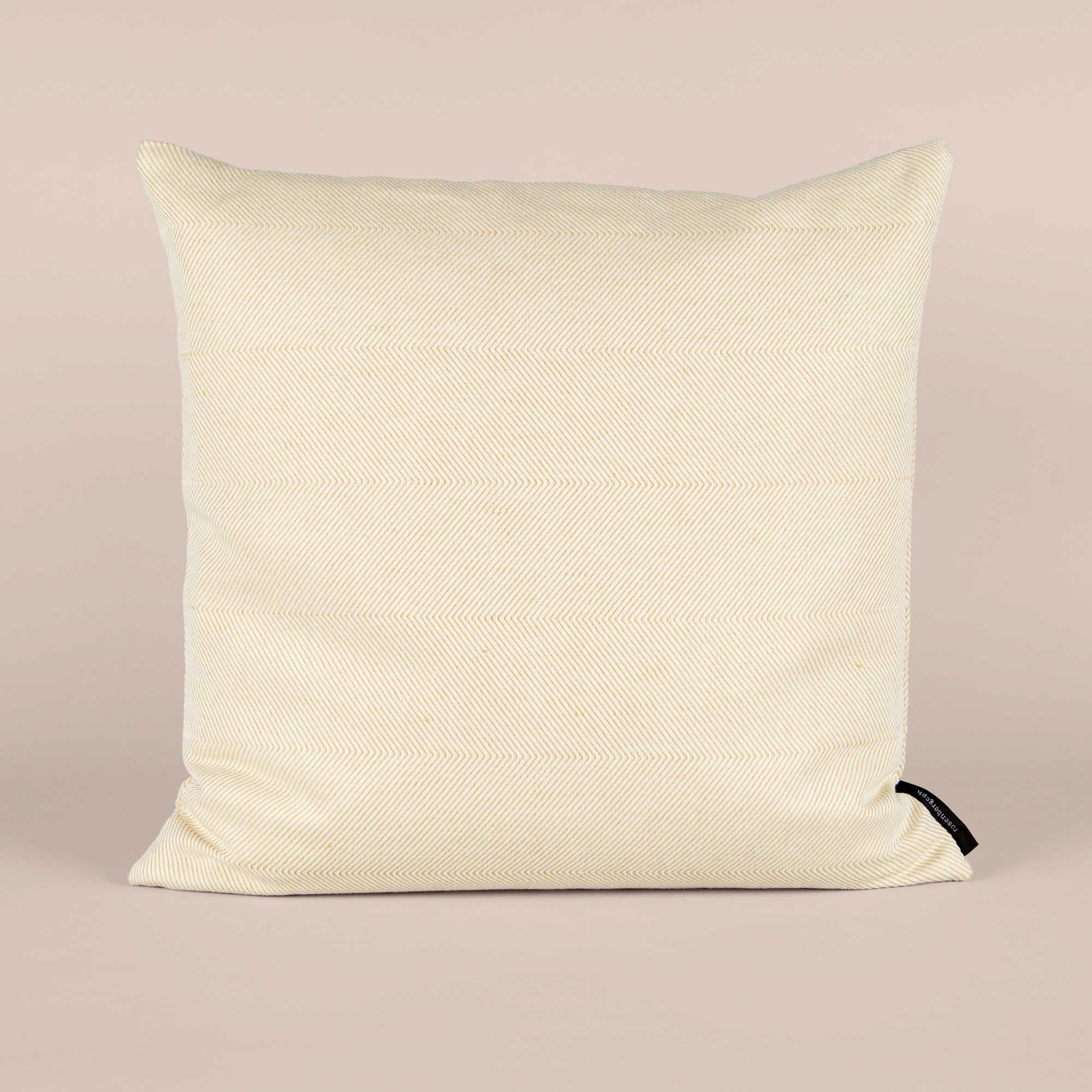 Square cushion linen/cotton light hay yellow design by Anne Rosenberg, RosenbergCph