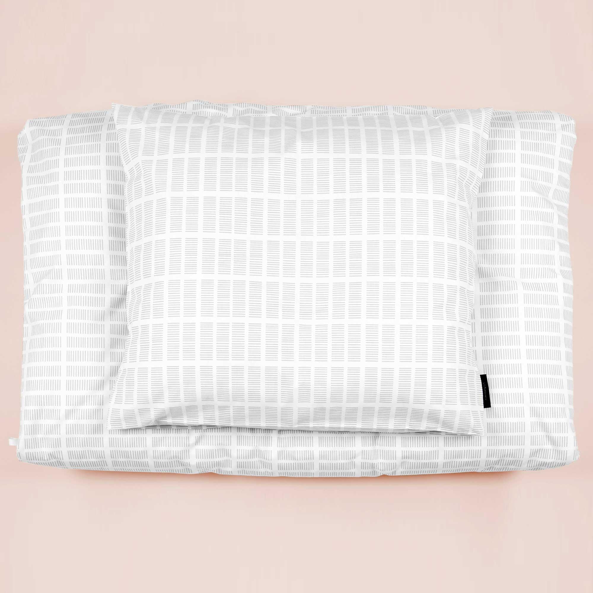 Bed linen, Tile grey, design Anne Rosenberg, RosenbergCph