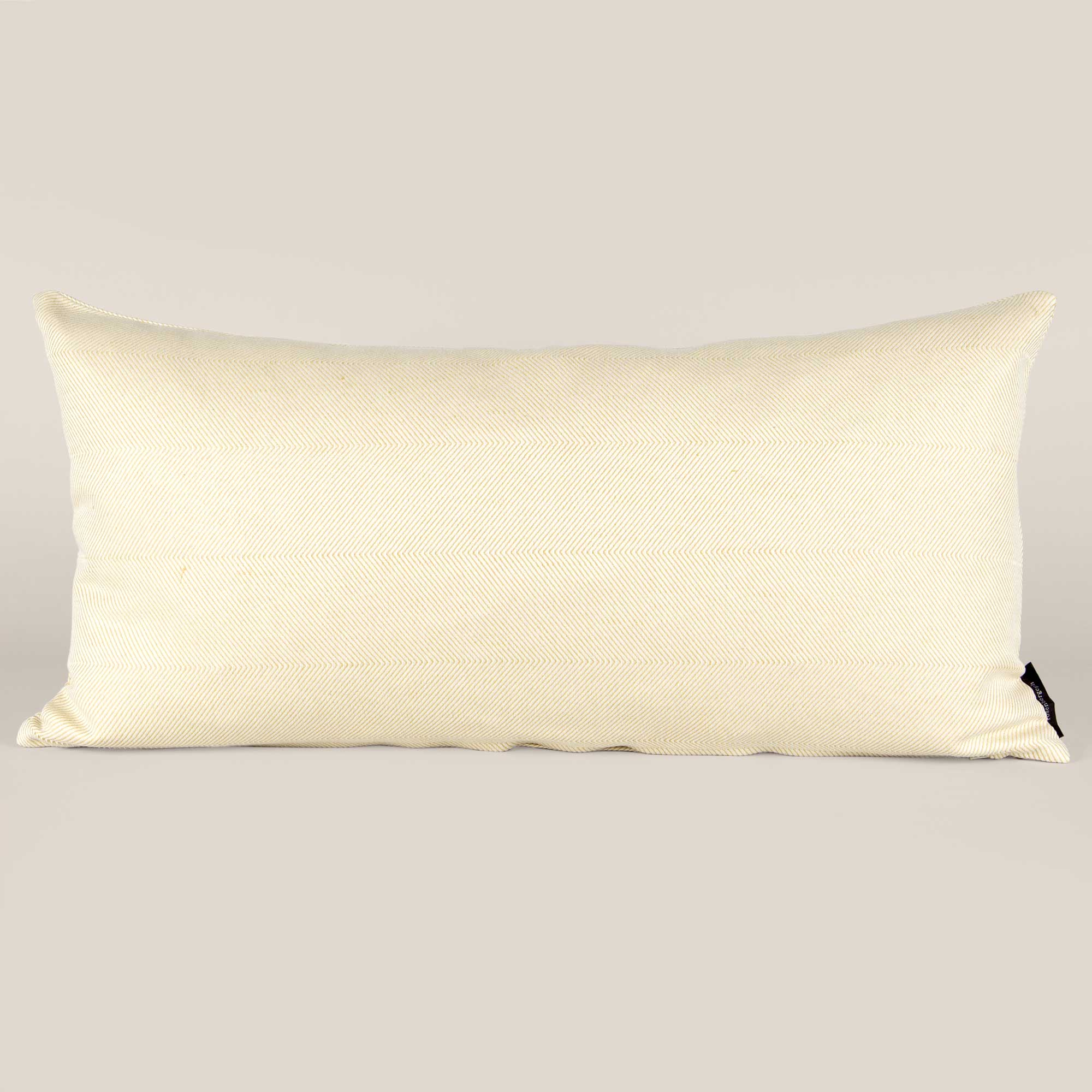 Rectangular cushion linen/cotton light hay yellow design by Anne Rosenberg, RosenbergCph