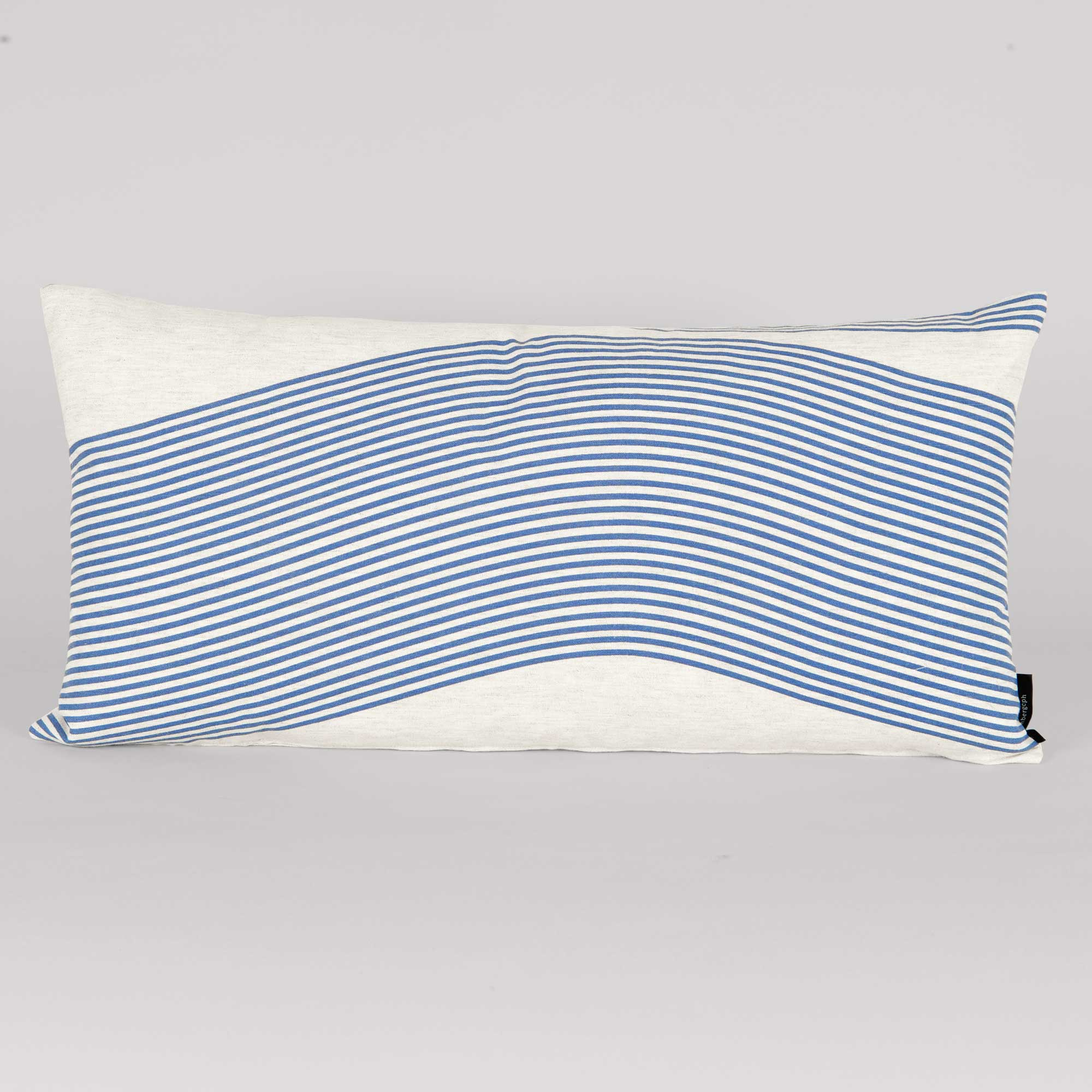 Rectangular cushion in River pattern, design Anne Rosenberg, RosenbergCph