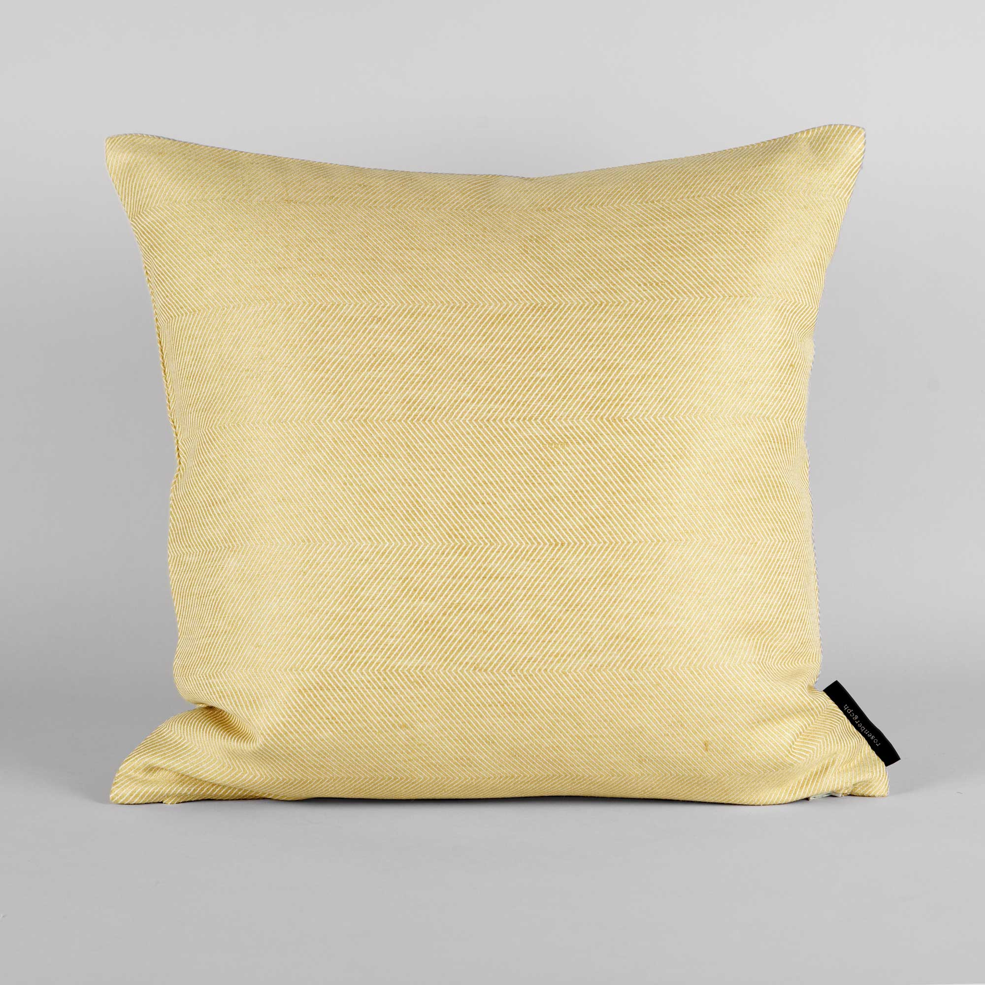 Square cushion linen/cotton hay yellow design by Anne Rosenberg, RosenbergCph