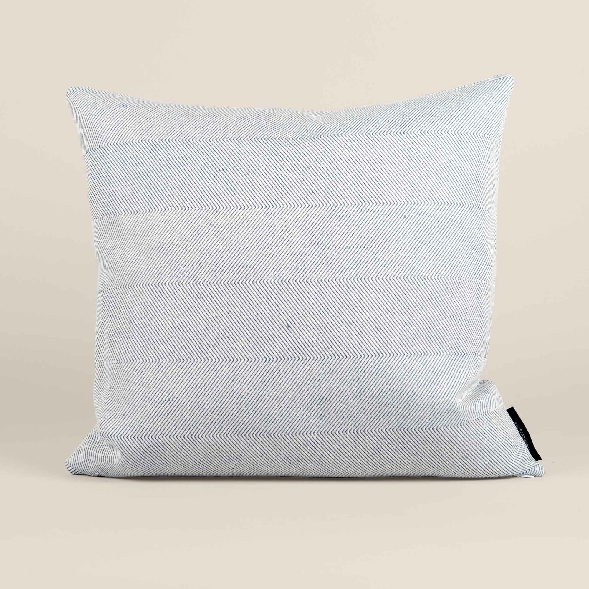 Square cushion linen/cotton light blue design by Anne Rosenberg, RosenbergCph