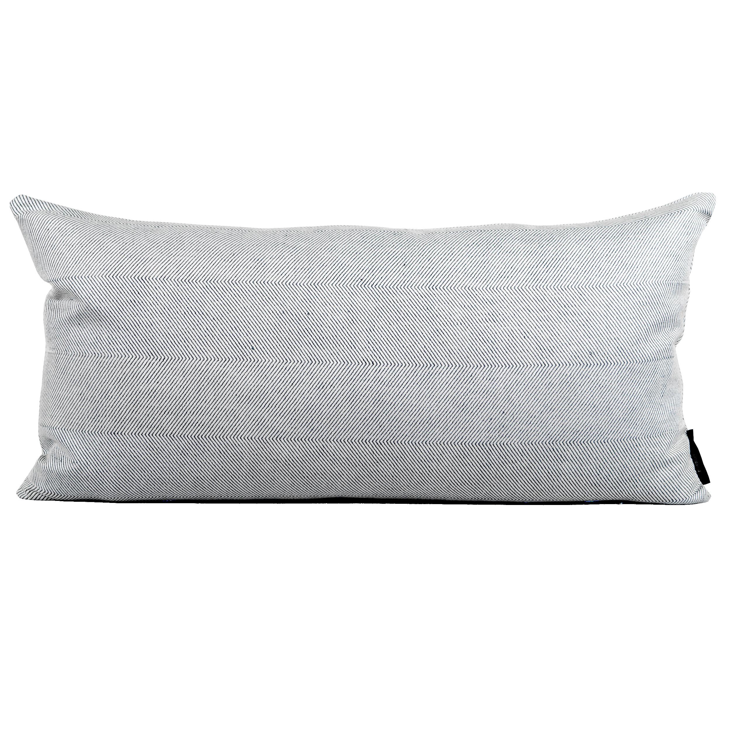 Rectangular cushion linen/cotton light blue design by Anne Rosenberg, RosenbergCph
