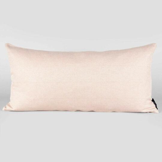 rectangular, linen/cotton, light coral