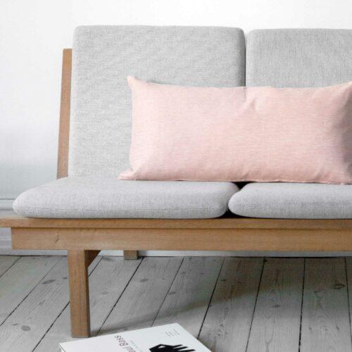 Rectangular cushion linen/cotton, coral