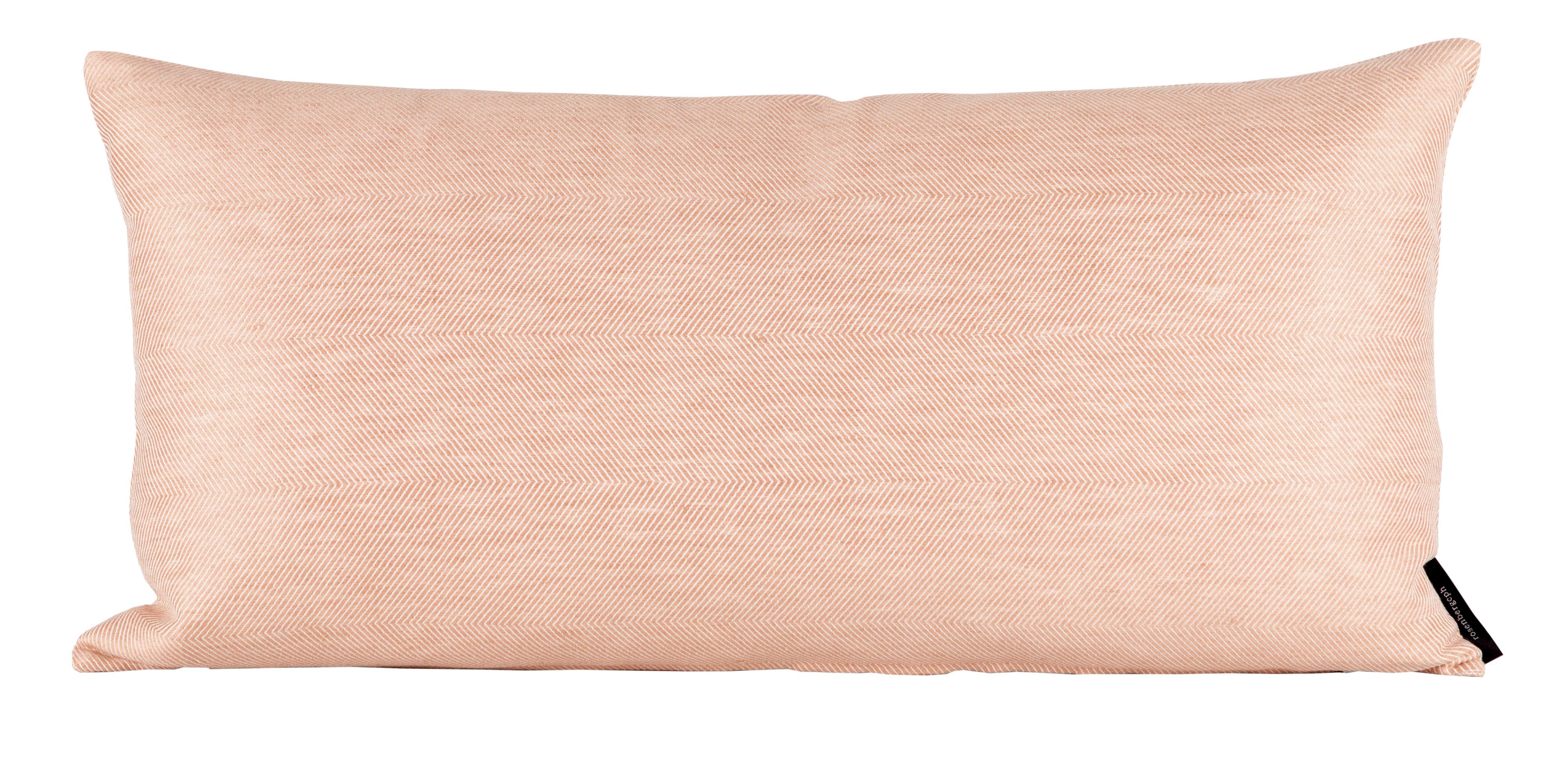 Rectangular, linen/cotton, coral