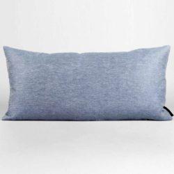 rectangular cushion, linen/cotton, blue