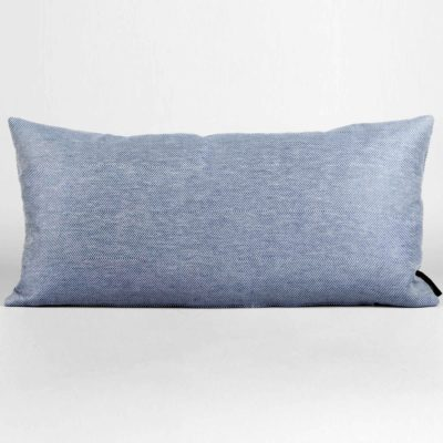 rectangular cushion, linen/cotton, blue