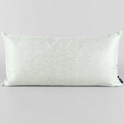 rectangular, linen/cotton, aqua green