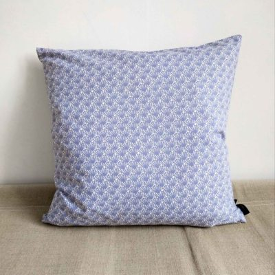 45x45cm organic cotton cushion, Fili blue