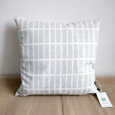 45x45 cm organic cotton cushion, Tile aqua