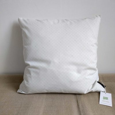 45x45 cm organic cotton cushion, Weave aqua