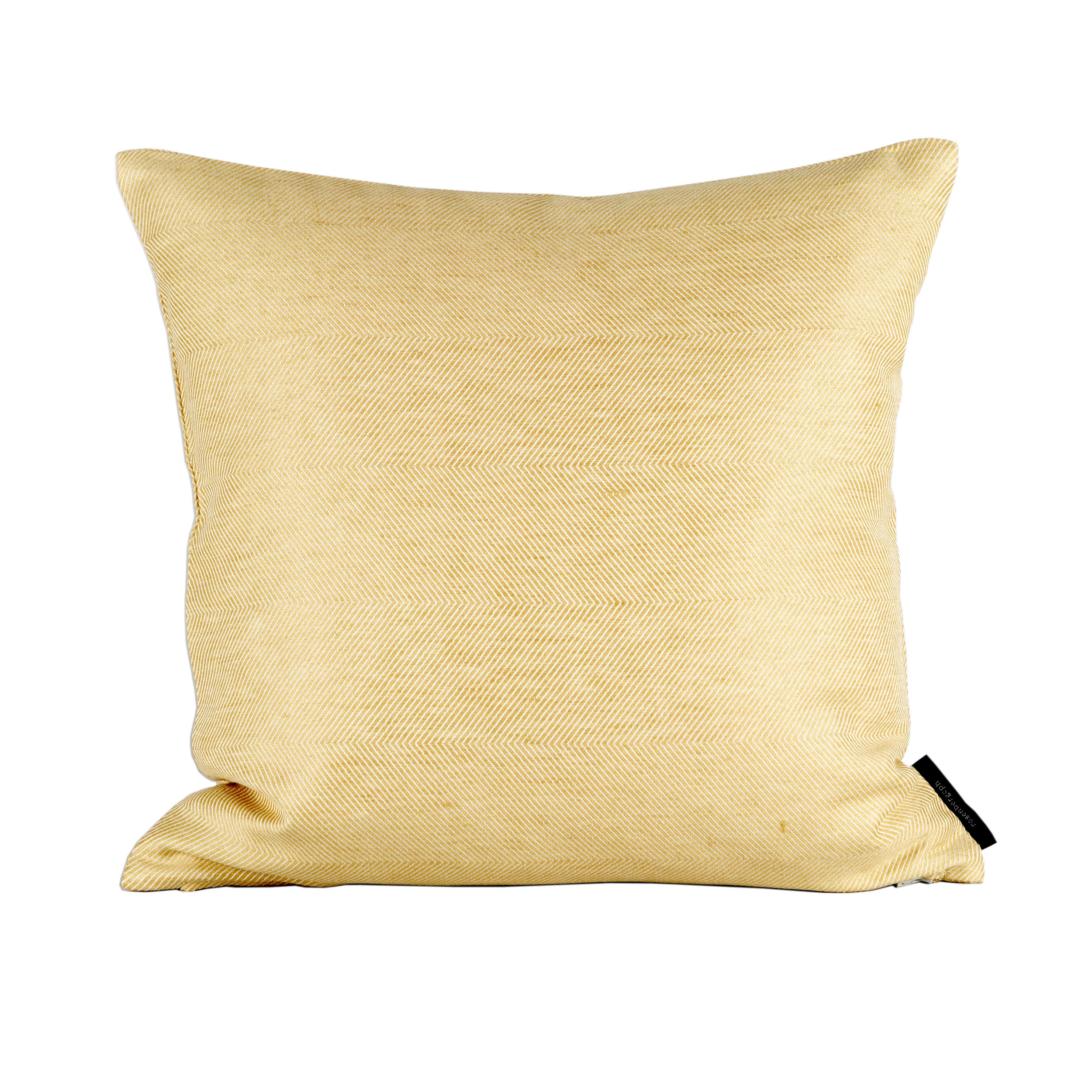 Square cushion linen/cotton hay yellow design by Anne Rosenberg, RosenbergCph