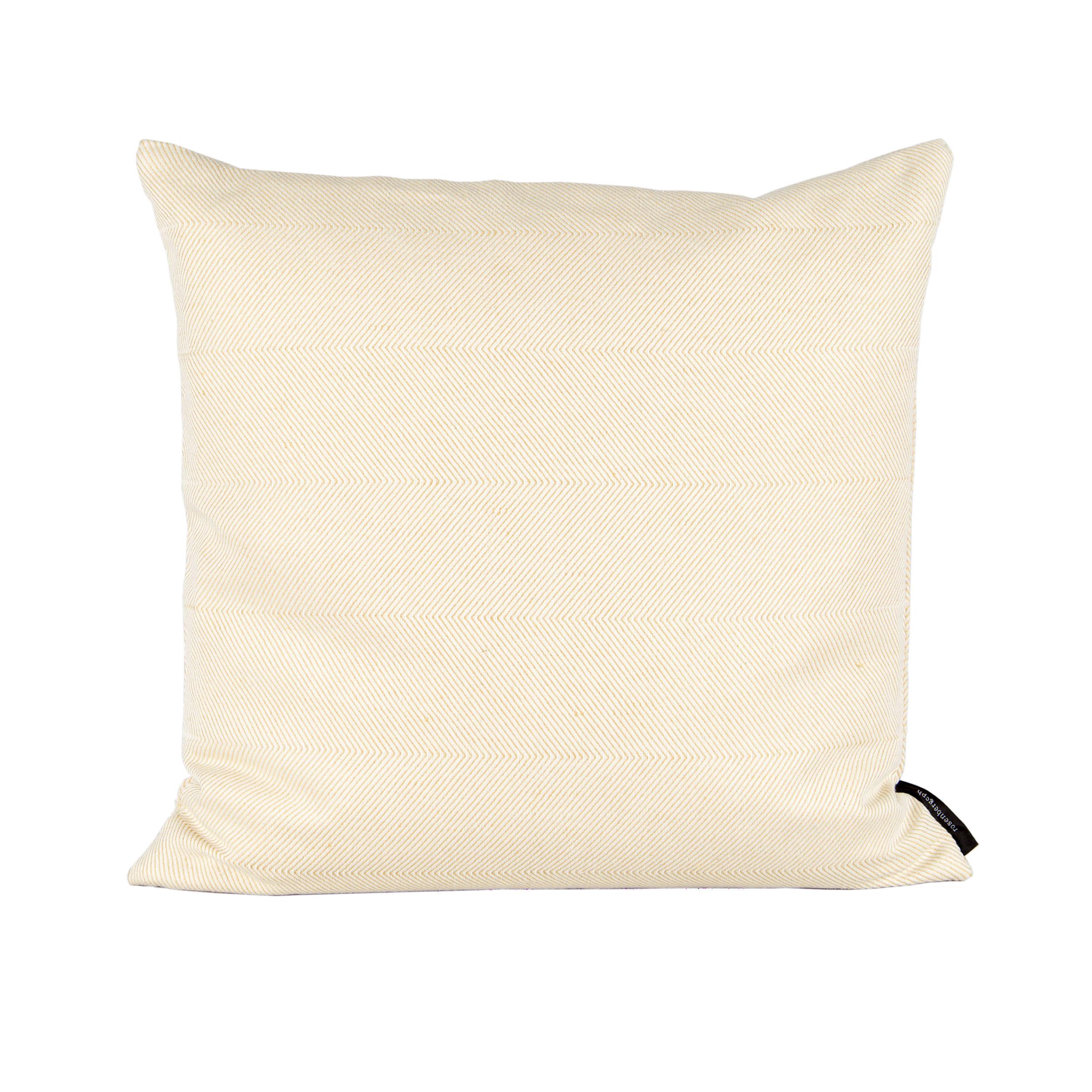 Square cushion linen/cotton light hay yellow design by Anne Rosenberg, RosenbergCph