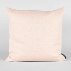 square cushion linen/cotton coral