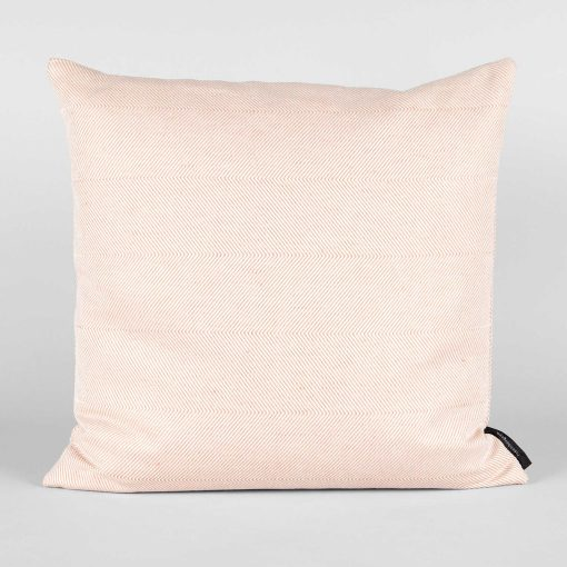 square cushion linen/cotton coral