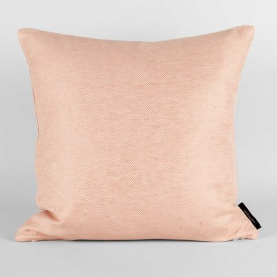 Square cushion, linen/cotton, coral