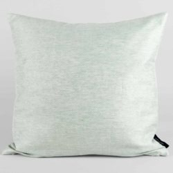 Square cushion, linen/cotton, aqua green