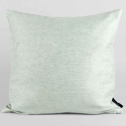 Square cushion, linen/cotton, aqua green