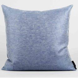 Square cushion, linen/cotton, blue