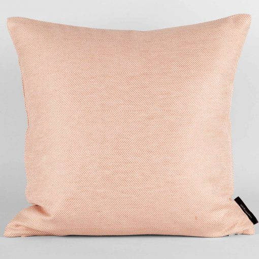 Square cushion, linen/cotton, coral