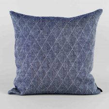 Cushion, square 100% linen harlequin weave