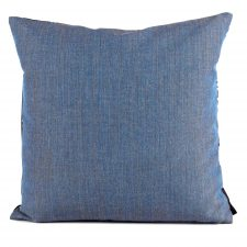 Square cushion wool blue