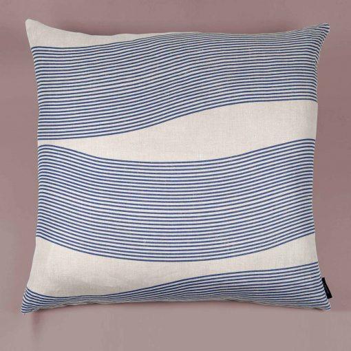 Floor cushion, River blue, 100 % linen, design by Anne Rosenberg, RosenbergCph