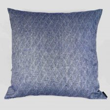 Floor cushion, 100% linen, dark blue