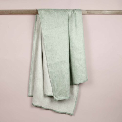 Bath towel, linen/cotton, Aqua green