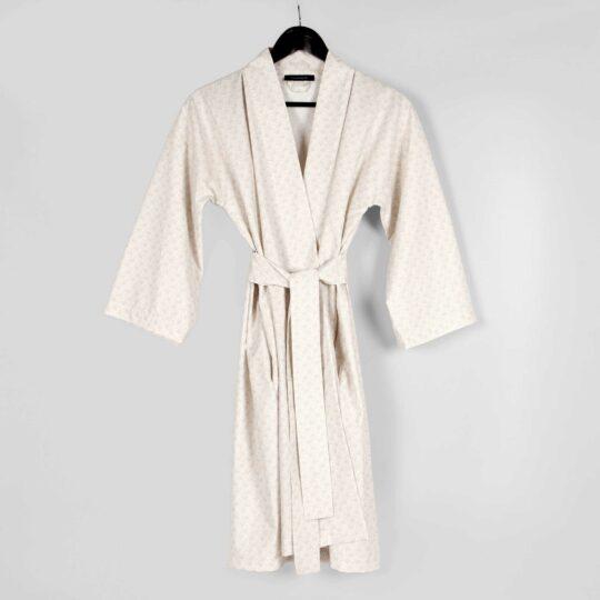 Kimono bathrobe, Fili sand, 100% organic cotton