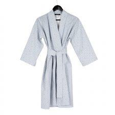 kimono bathrobe, weave blue