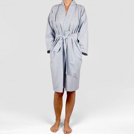 Kimono bathrobe, Weave navy blue