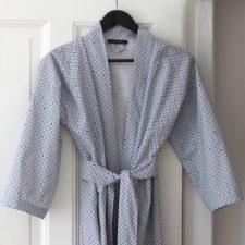 Kimono/bathrobe, weave navy blue