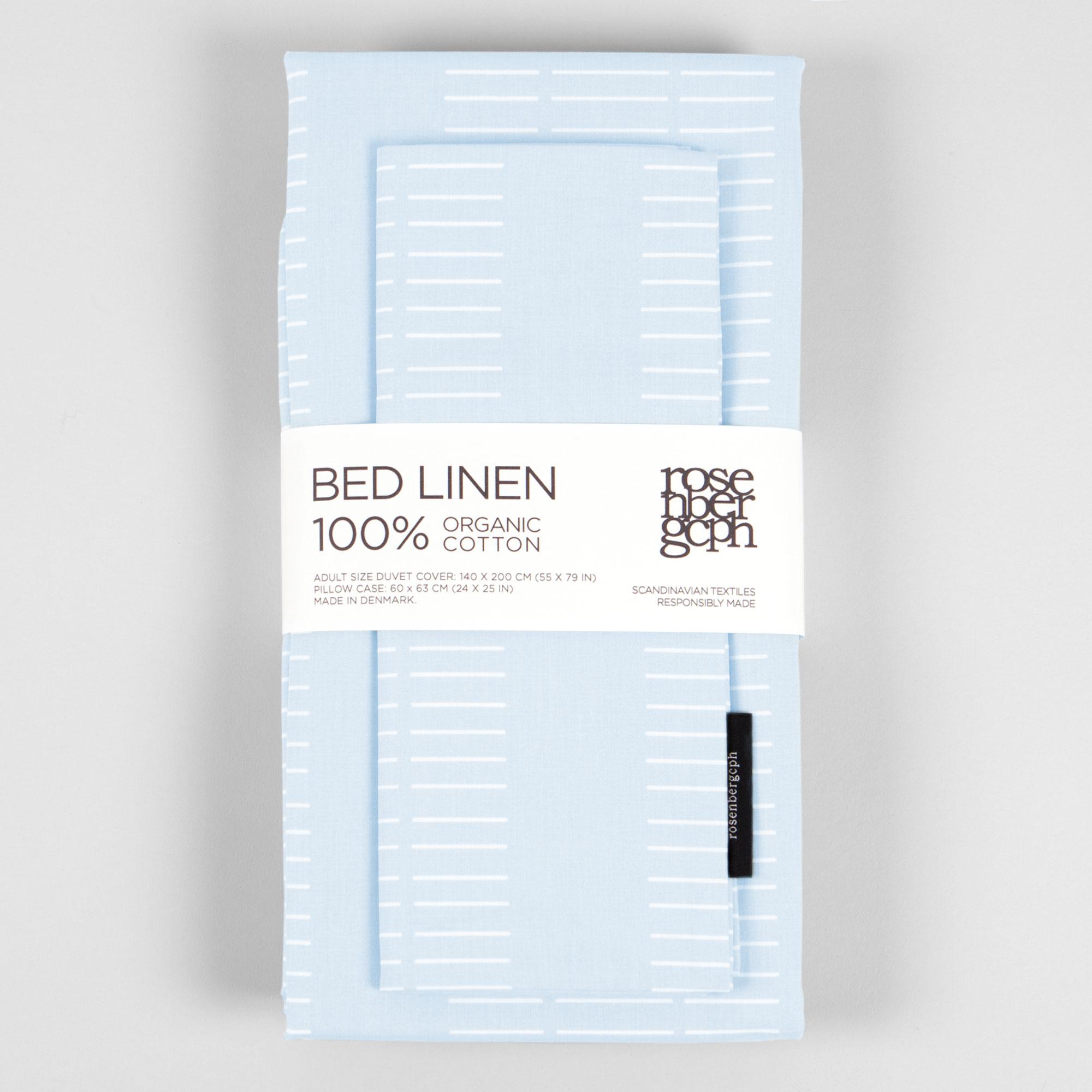 Bed linen, Dash Morning Sky, organic cotton design by Anne Rosenberg, RosenbergCph