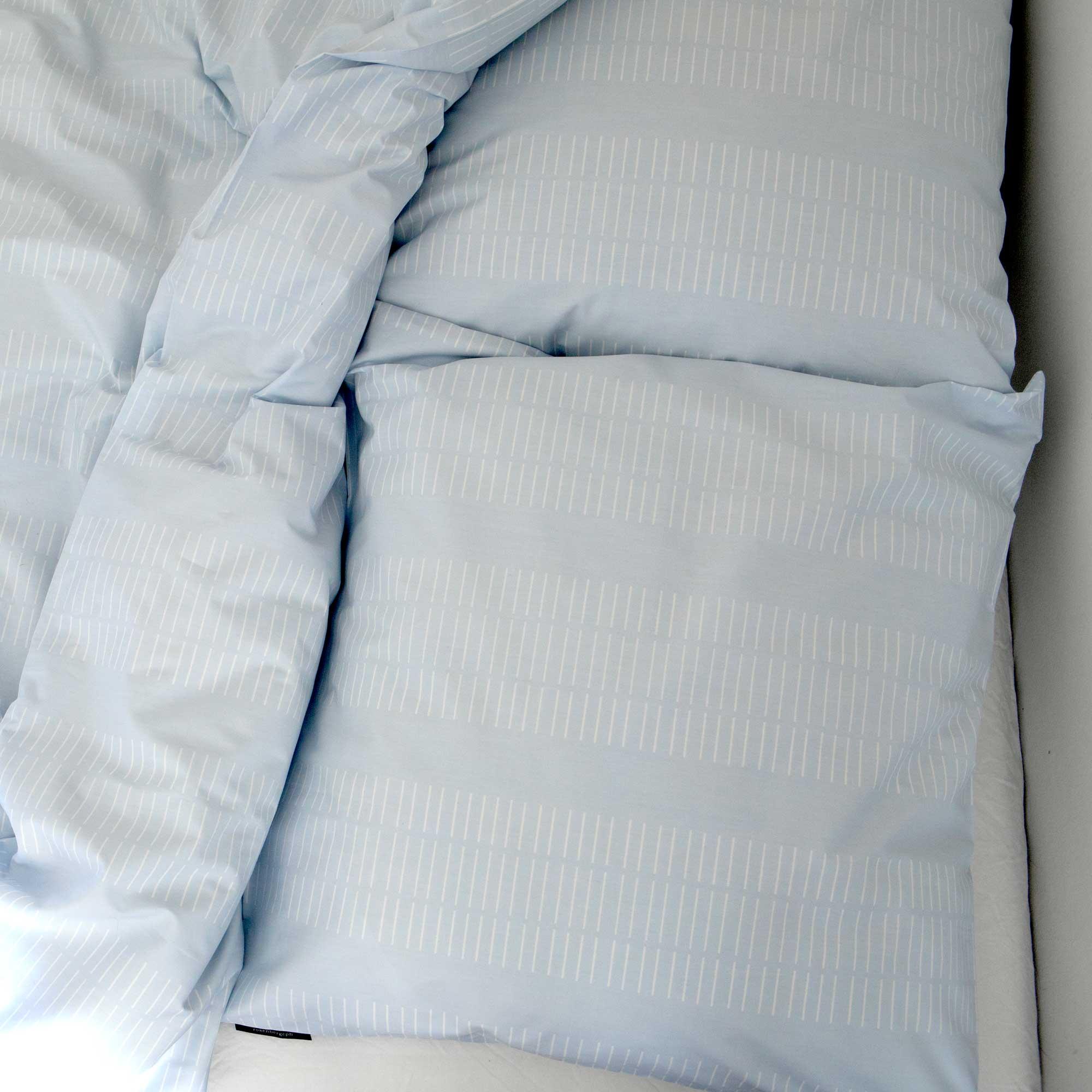 Bed linen, Dash sky blue, design Anne Rosenberg, RosenbergCph