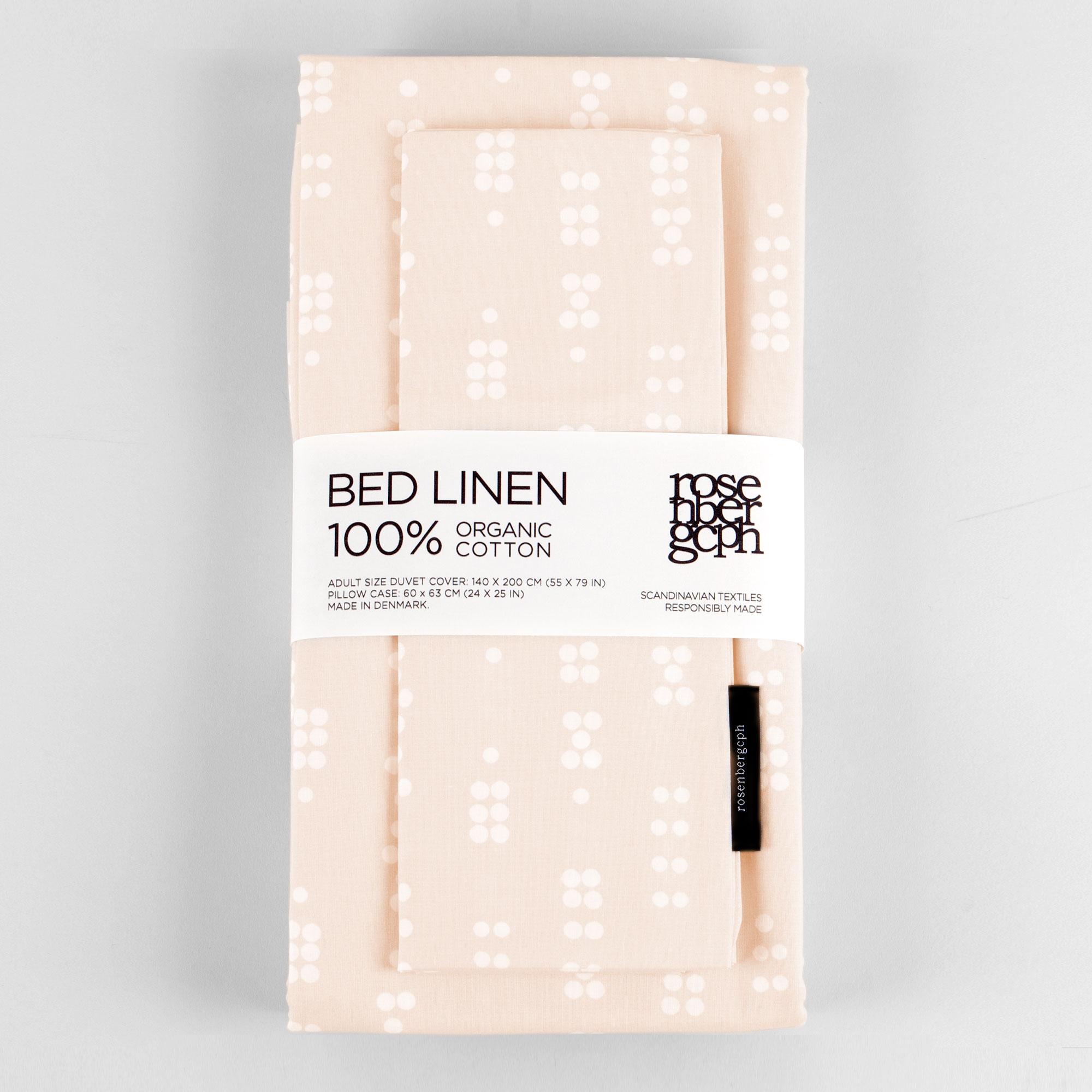 Bed linen, Dot Sea Shell, organic cotton design by Anne Rosenberg, RosenbergCph