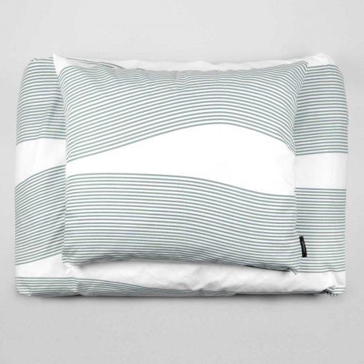 Bed linen, River aqua green, design by Anne Rosenberg, RosenbergCph