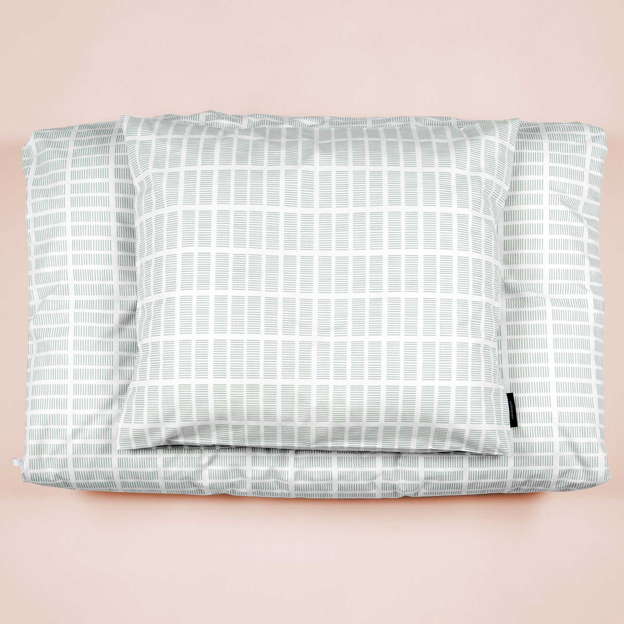 Bed linen, Tile aqua, organic cotton, Made in Denmark