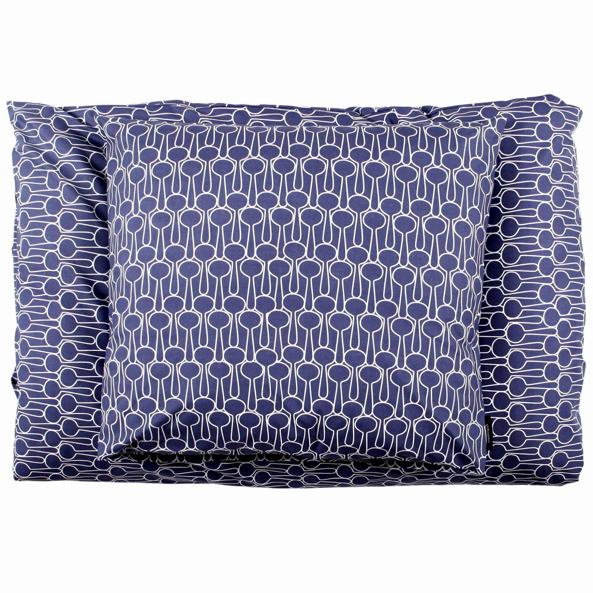 bed linen, Big drop blue organic cotton