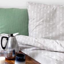 Bed linen, Dot grey