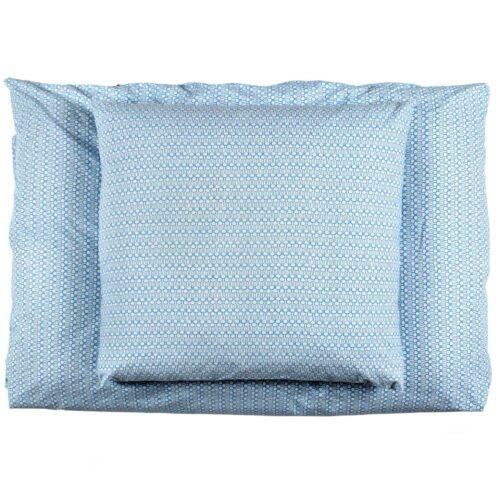 Drop blue bed linen, organic cotton
