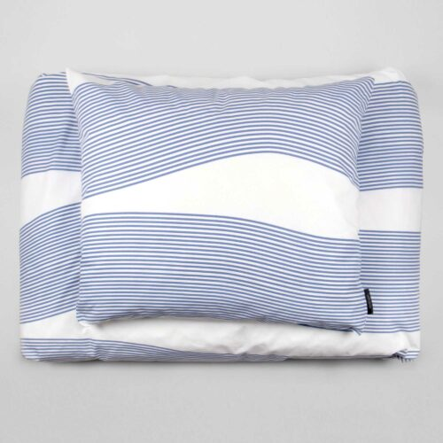 Bed linen, River blue, RosenbergCph, design by Anne Rosenberg
