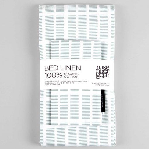 Bed linen, Tile aqua, organic cotton