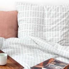Bed linen, Tile aqua, organic cotton