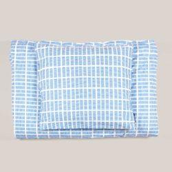Bed linen, Tile blue