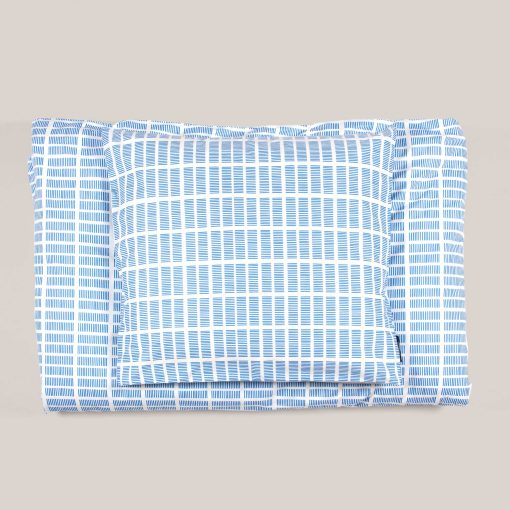 Bed linen, Tile blue