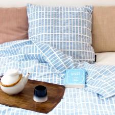 Bed linen, Tile blue interior